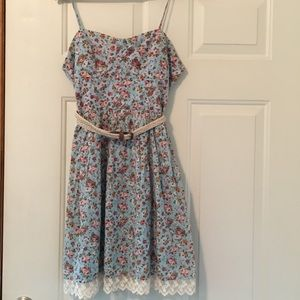 Size 9 Floral Country Summer Dress Lace
